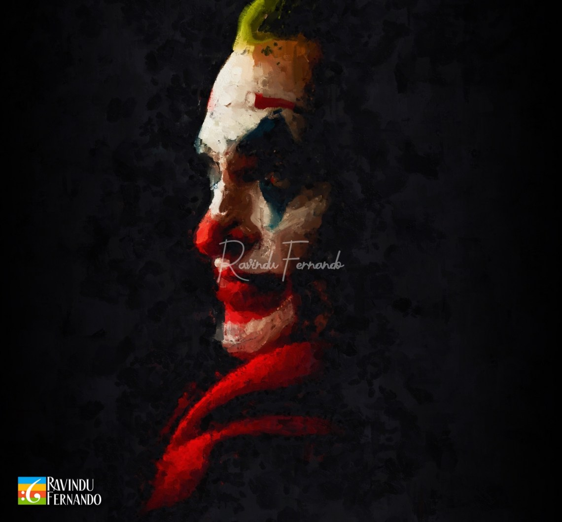 Joker Digital Oil Painting by Ravindu Fernando