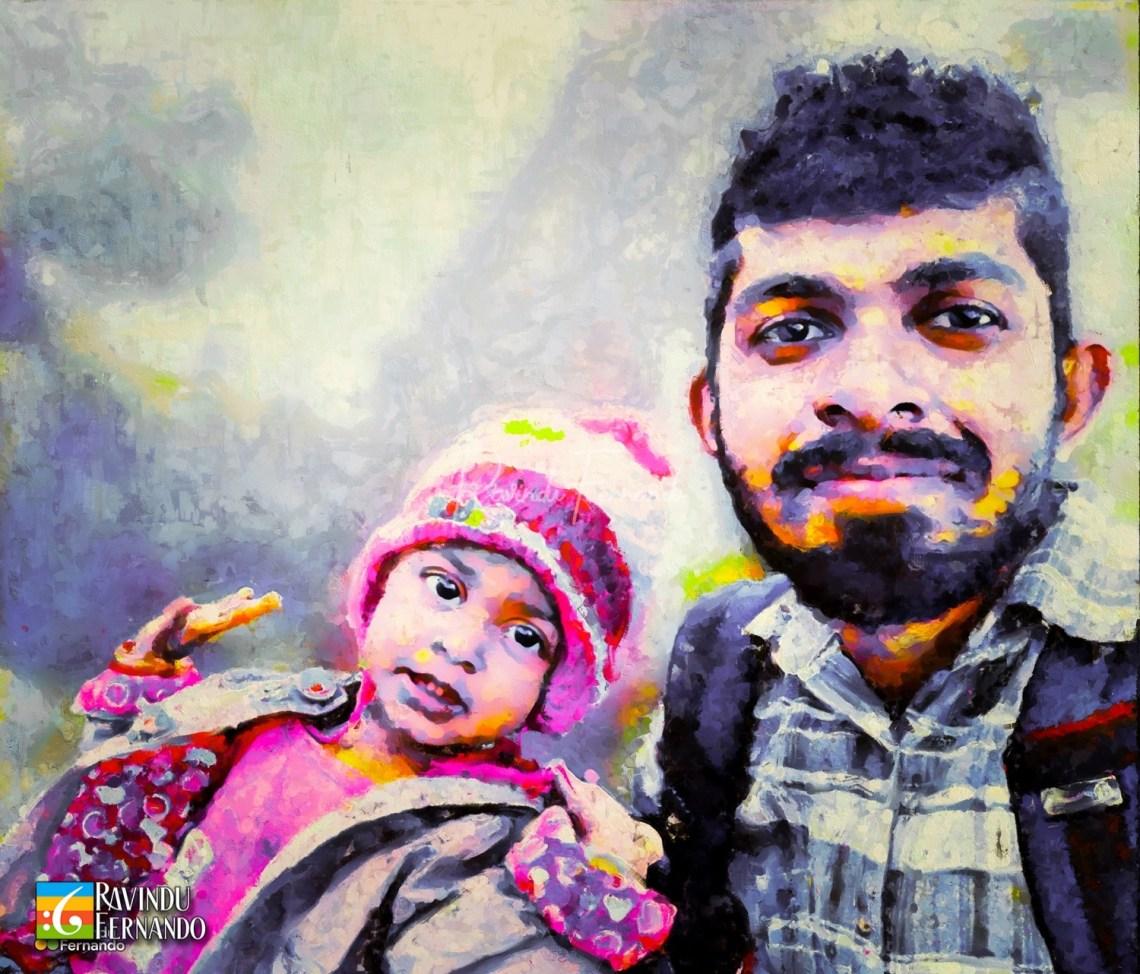 Ruwan Sampath Gamage - Digital Oil Painting By Ravindu Fernando