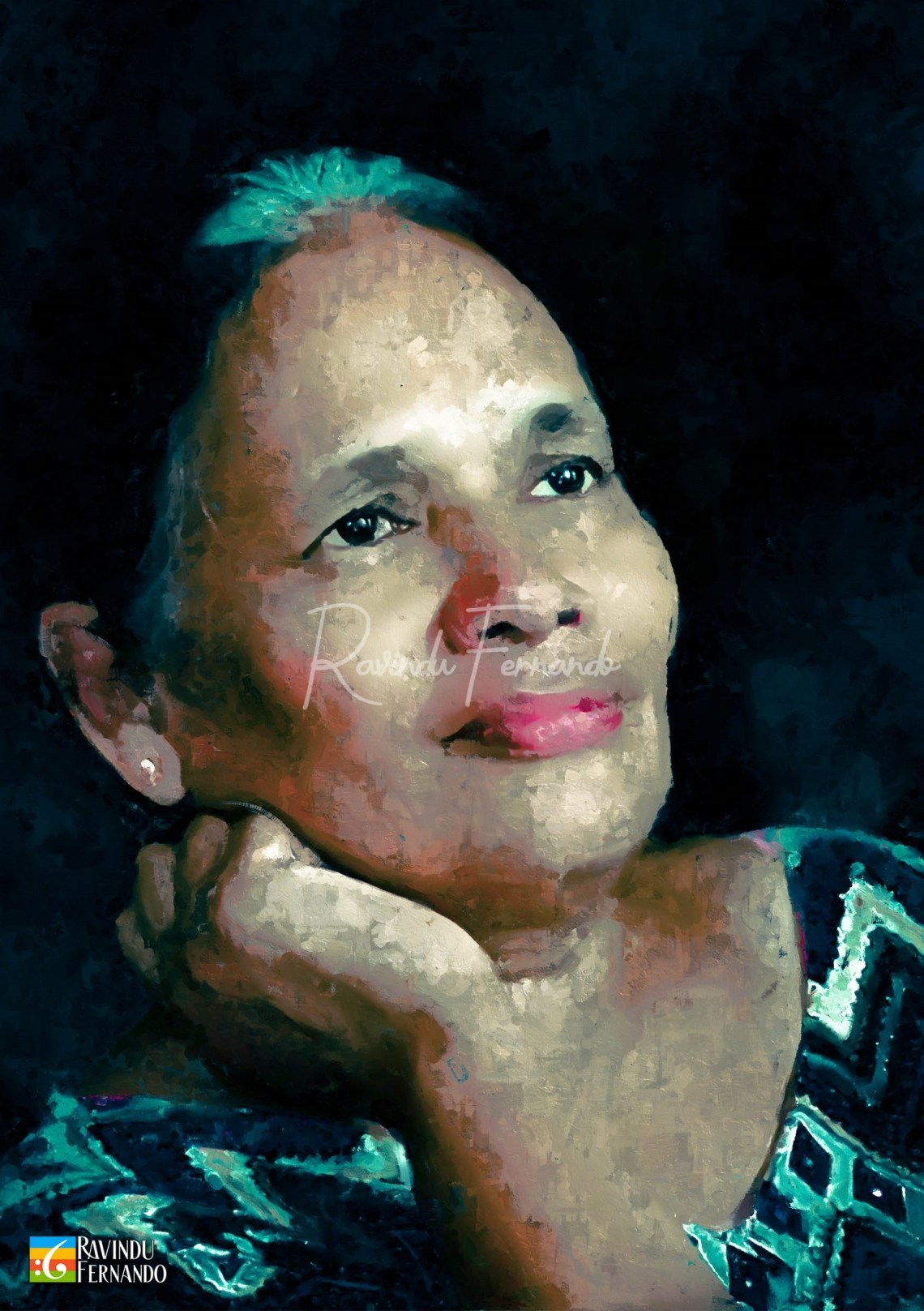 Shanaka Digital Oil Painting by Ravindu Fernando