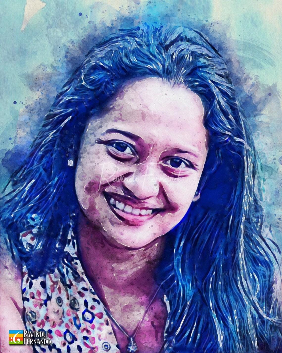 Surani Anupama - Digital Watercolor Painting