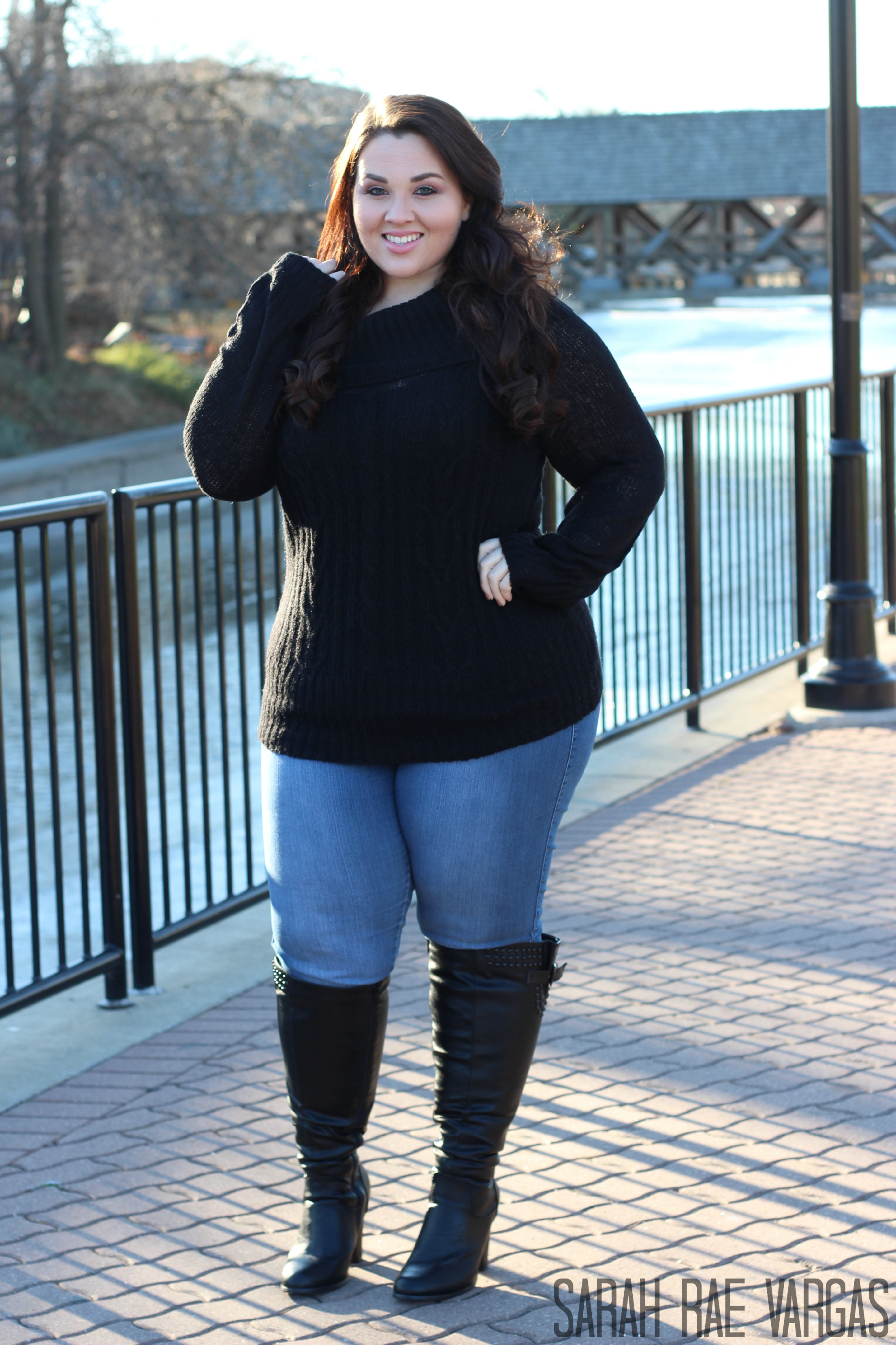 Image result for leggings and sweater and boots bbw