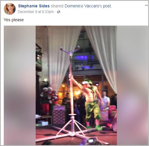 Stephanie Sides Male Christmas Pole Dancer