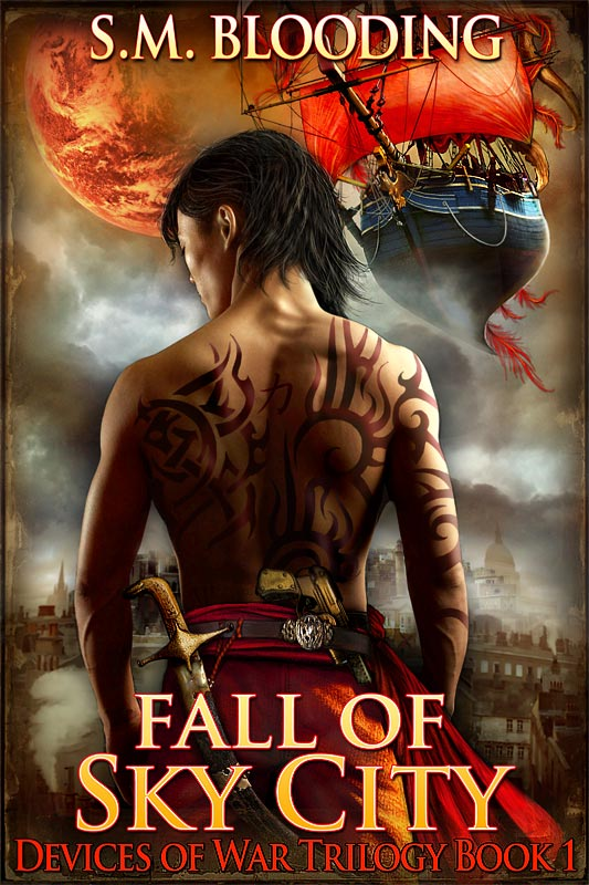 Fall of Sky City Book Cover Art