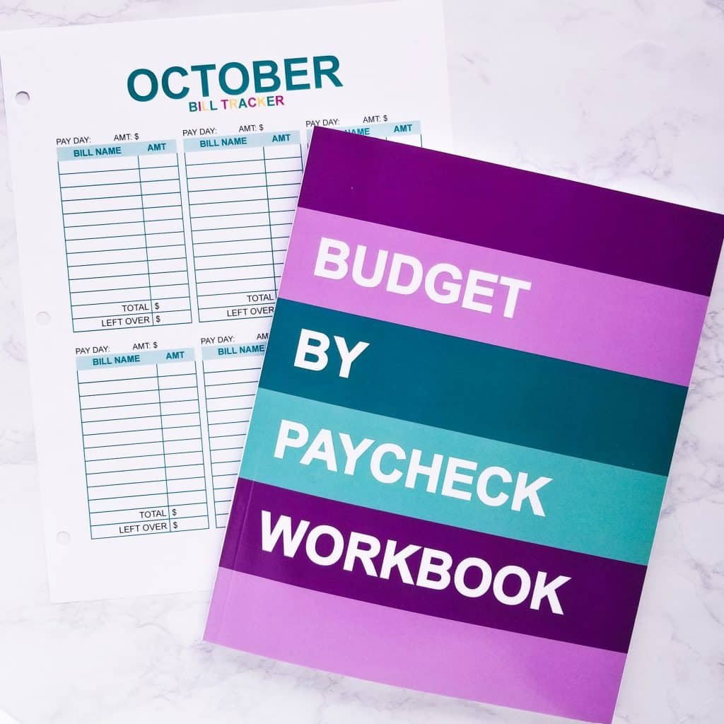 Budget By Paycheck Purple Teal Softcover Edition