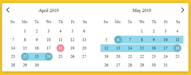 calendar component vuejs