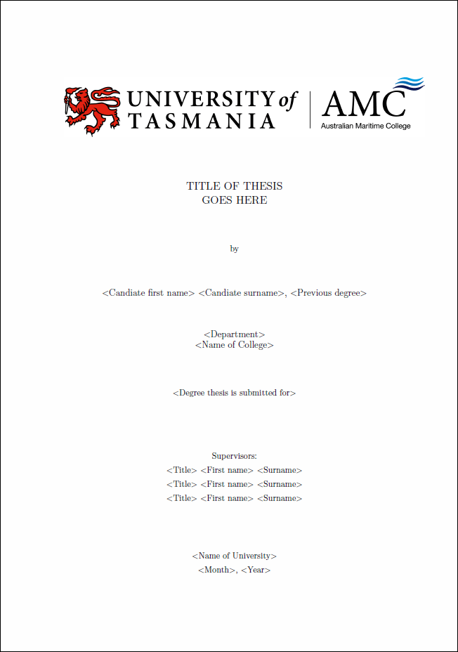 Cover page dissertation latex