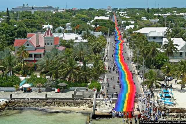 Where is the world's biggest Pride flag?