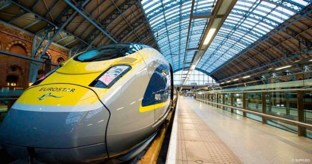 Eurostar waiting in London's St Pancras
