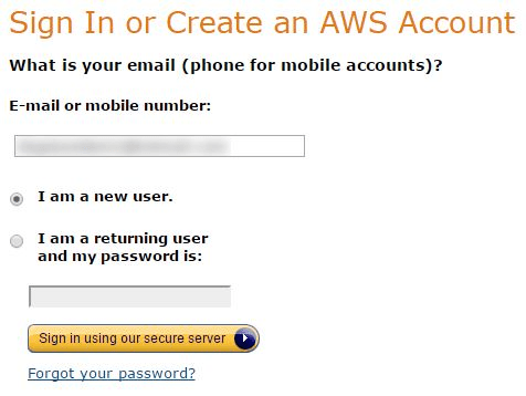 Sign In or Create an AWS Account