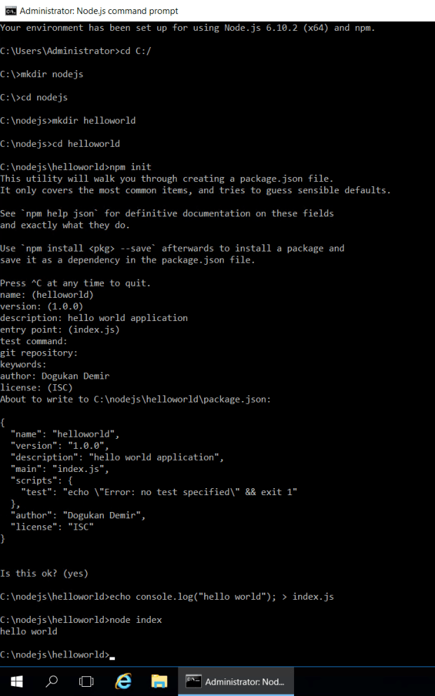 Node.js Hello World