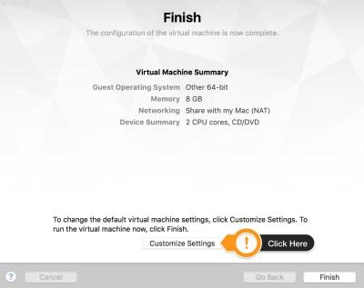 VMWare Fusion import VM