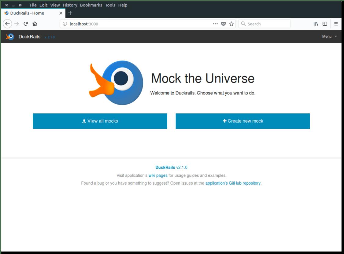 DuckRails - Αρχική σελίδα εφαρμογής