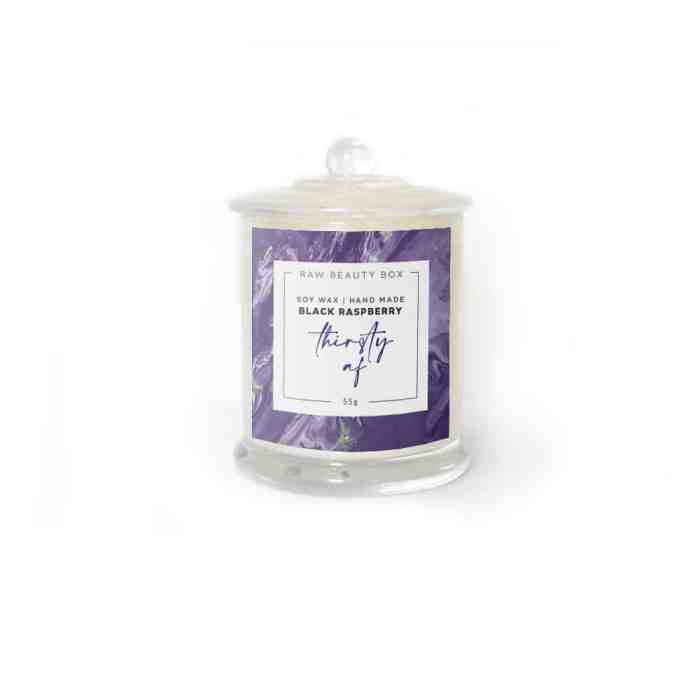 Black Raspberry - Soy Wax Hand Made Candle - 55g