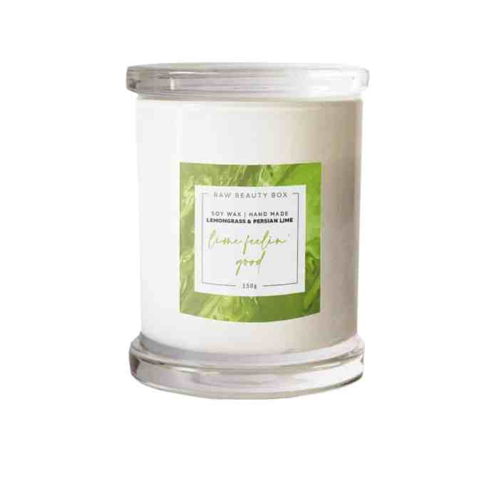 Lemongrass + Persian Lime - Soy Wax Hand Made Candle - 150g