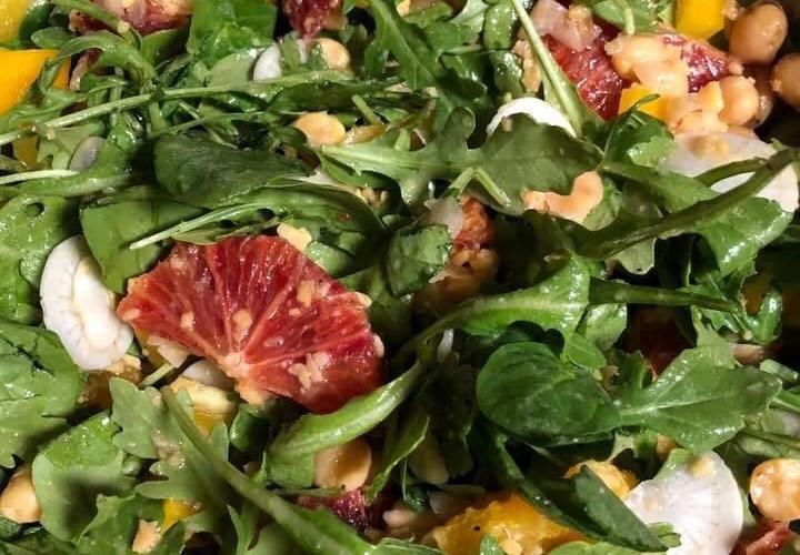 bean, orange and arugula salad