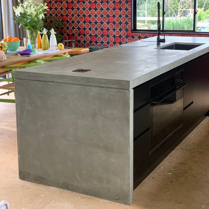 Kitchen Island with Waterfall Ends – Private Client