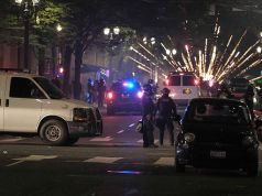Portland Rioters Launch Firework Mortars at Fed Courthouse