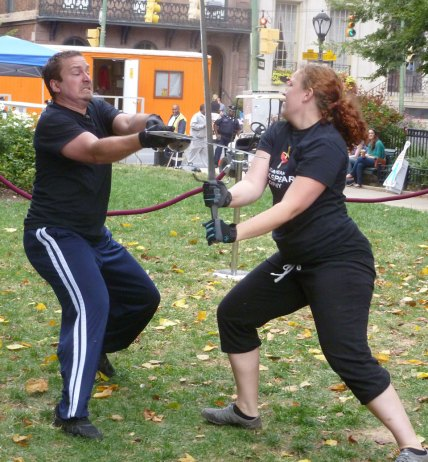 The Shakespeare Company demonstrating stage fighting