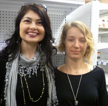 Heidi and bookstore host Katie