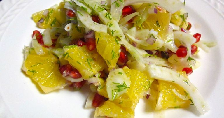 Fennel, Orange and Pomegranate Salad