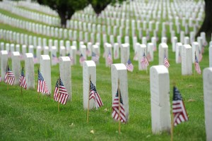America's bravest lay beneath that grass.