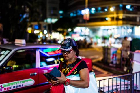 walking through the streets of Wanchai, HK day and night