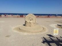 imagination, Hampton Beach, NH, sand sculptures, sand art, art, castles, beach, fun, adventure, travel, journey, authorblog, blogseries, writer, author, booknerd, nerd, books, fantasy, mustread, storytelling, blue, white, high-five, waves, ocean, sea, story, blogger, book blog, dream,