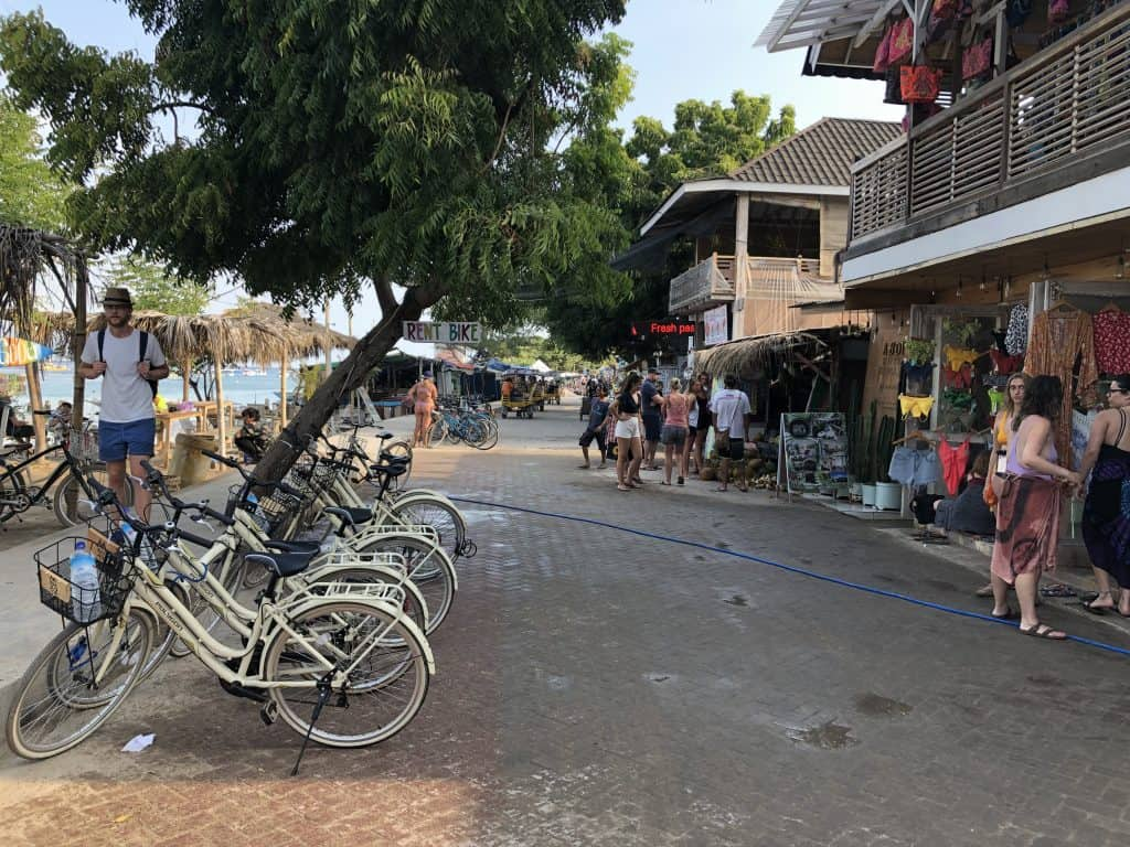Main road on Gili T