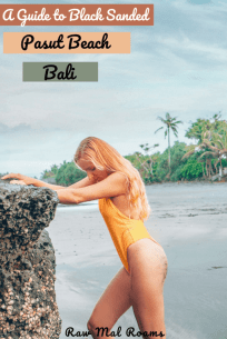 Pasut Beach is situated 40 minutes drive from Canggu, and it is an excellent place for a day trip. Check out this post for all the tips on how to get there and what photos to take on this beautiful Bali beach. | #baliblacksandbeach #balibeaches #pasutbeach #balitravel #baliinstagram