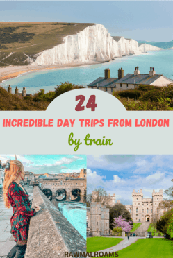 Looking for ideas for local getaways or UK staycation? This post includes some incredible ideas for easy day trips from London: Stonehnege, Bath, Seven Sisters, Windsor Castle and more. Check it out! | #daytripsfromlondon #topdaytripsfromlondon #daytripsfromlondonbytrain #londontrips