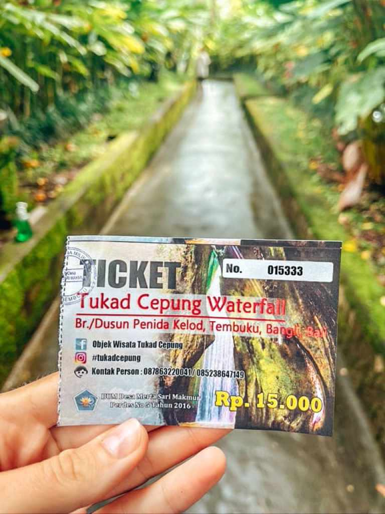 tukad cepung waterfall ticket