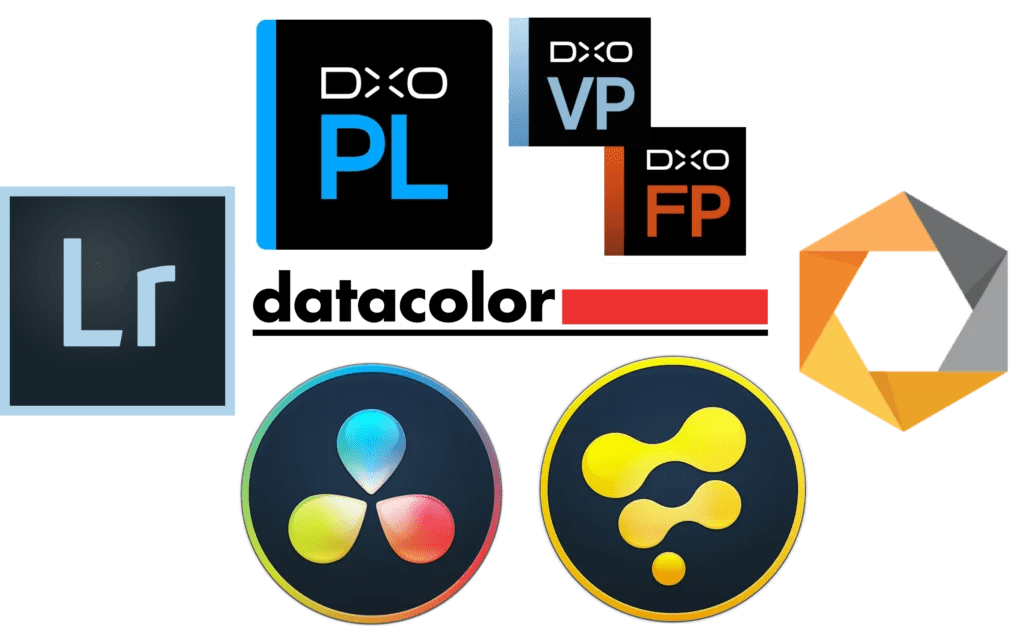 Exemples de logiciels utilisés pour le travail de retouche