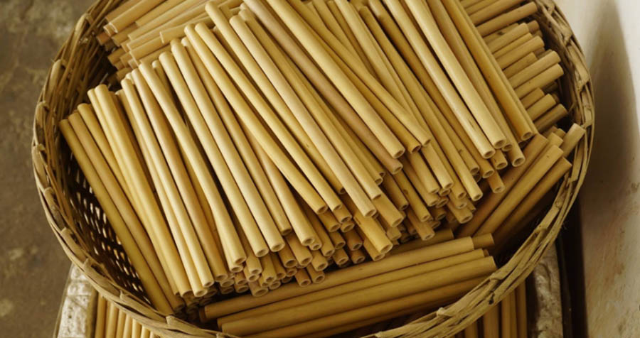 Bamboo Straw Production Raw Straw