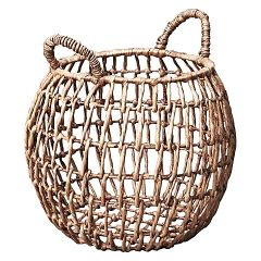 Inartisan, waterhyacinth open weave basket