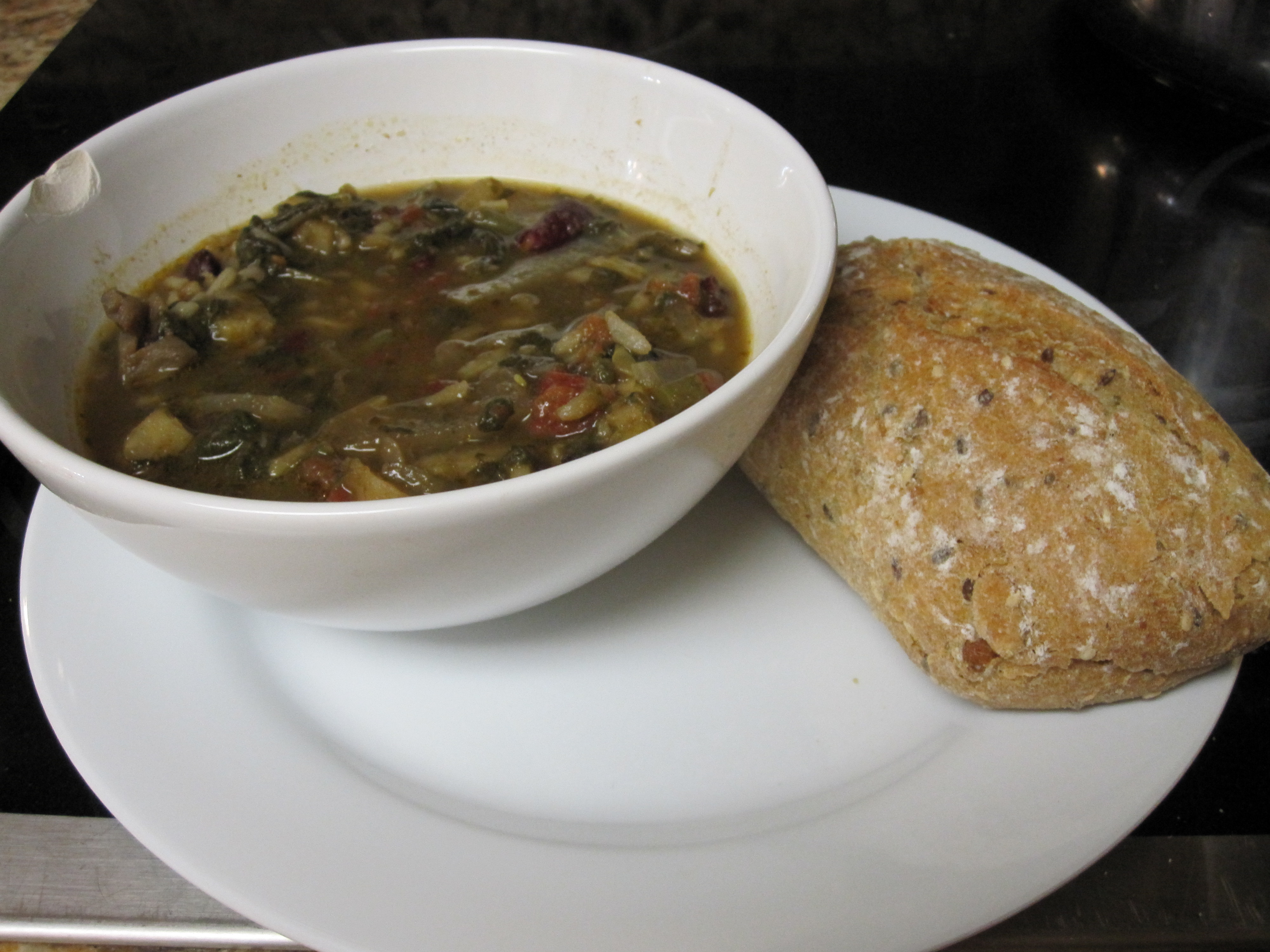 Sunday Vegetable Rice Soup