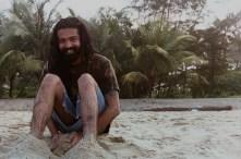 Deepak on the beach at sunrise. (Cochin)