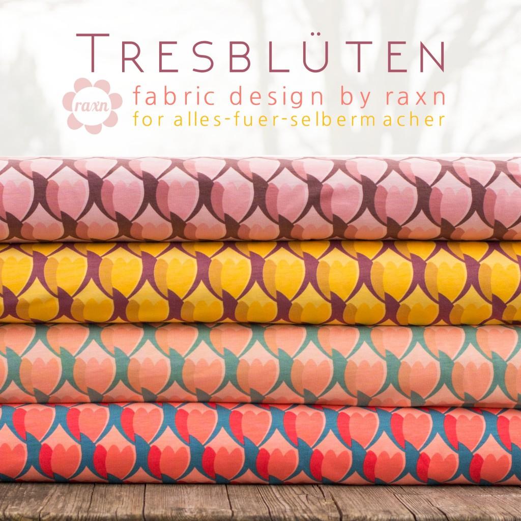 Tresblüten by raxn for afs Stoffbild quadratisch