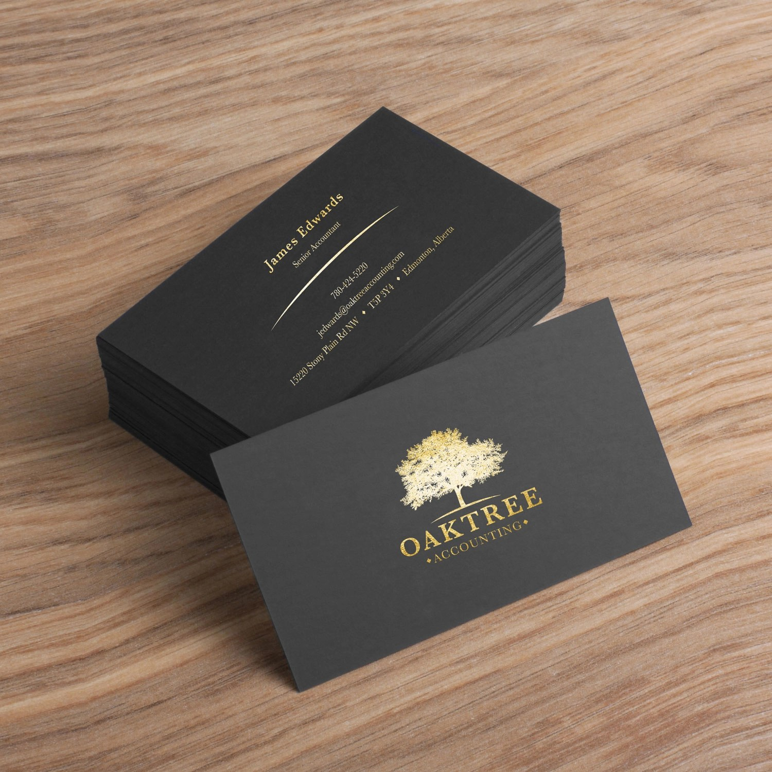 black suede business cards