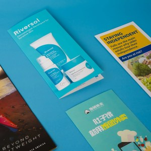 brochures take out menus