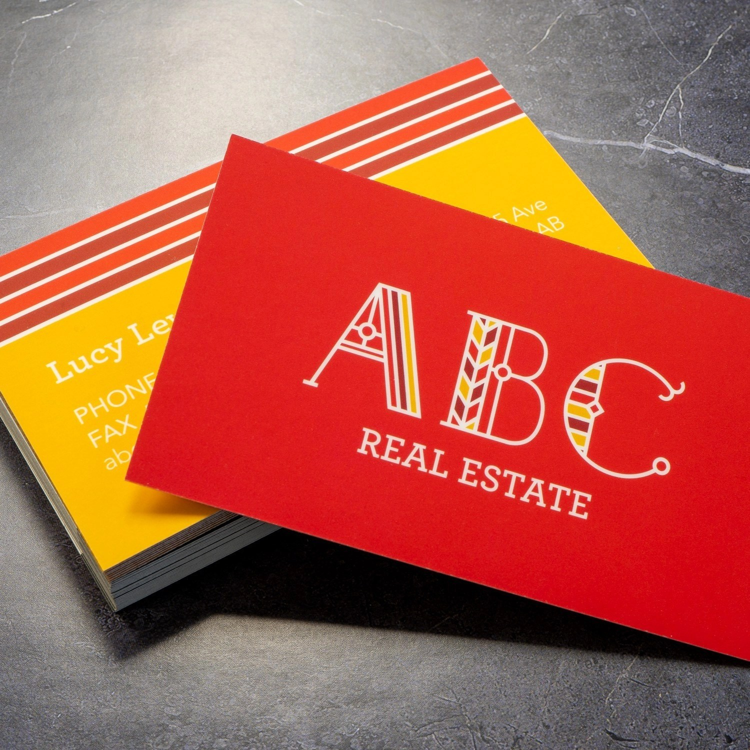 Soft Touch Business Cards printed in Burnaby