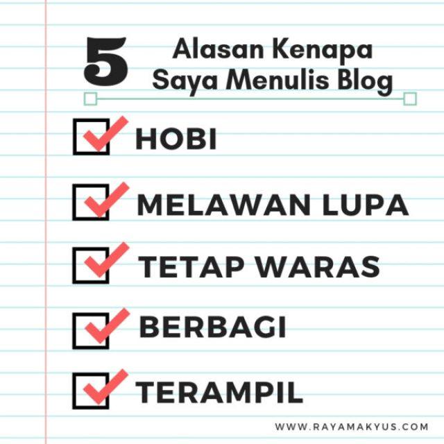 5 alasan saya menulis blog