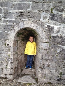 playing in Cong Abbey