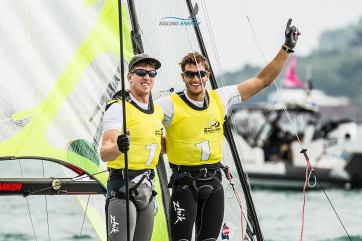 Peter Burling & Blair Tuke. Photo by Sailing Energy.