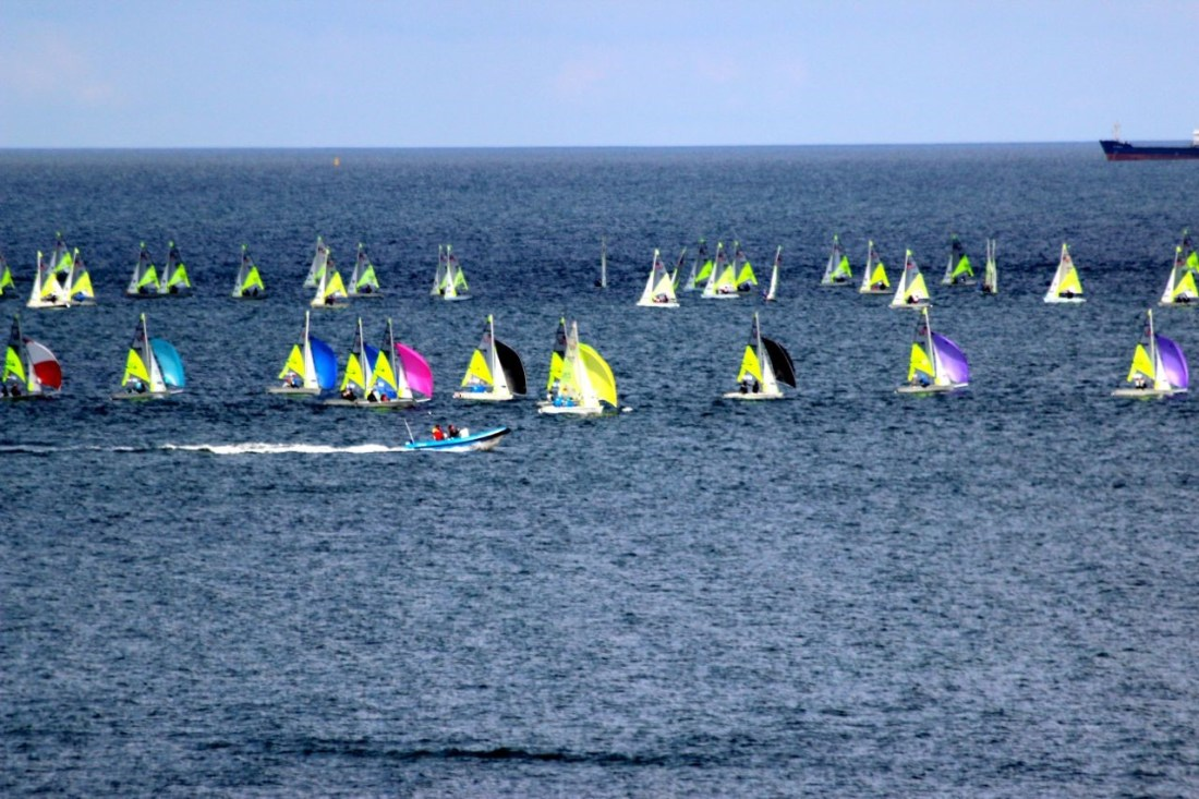 One of three Feva fleets racing at Travemunde