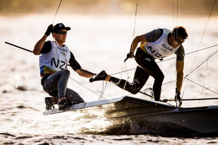 Peter Burling Blair Tuke. Photo by Sailing Energy / World Sailing