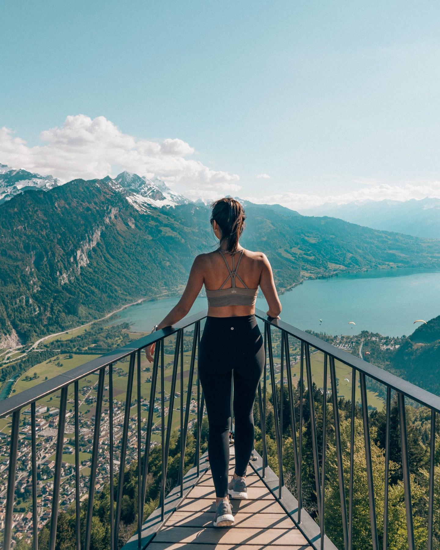 Switzerland Interlaken Harderkulm hike lululemon aloyoga