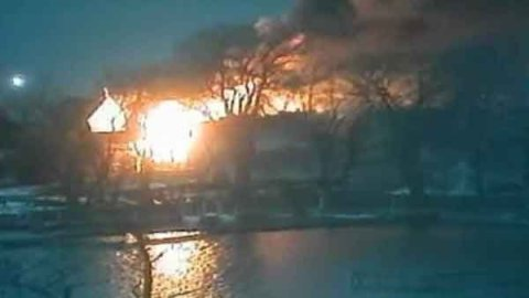 Two firefighters are dead and two others wounded in New York after being shot while battling a home fire. (Source: WHAM/CNN)