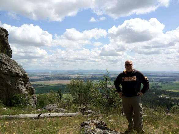 Ray Edwards summits the Rocks of Sharon!