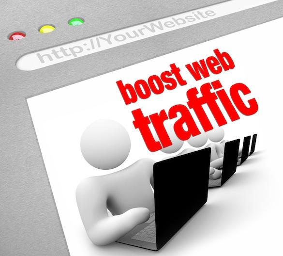 Boost Web Traffic - Internet Screen Shot