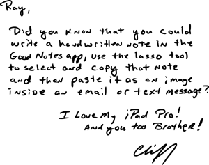 Note From Cliff